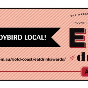 We've been nominated in the EAT/Drink Awards
